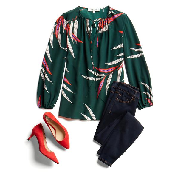 Сочетания красного и зеленого в одежде