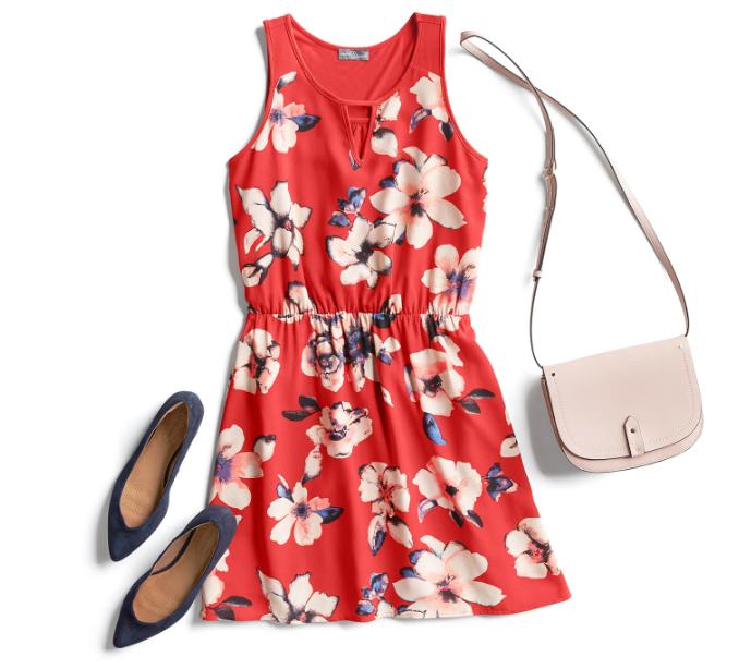 Красно-розовая гамма в одежде