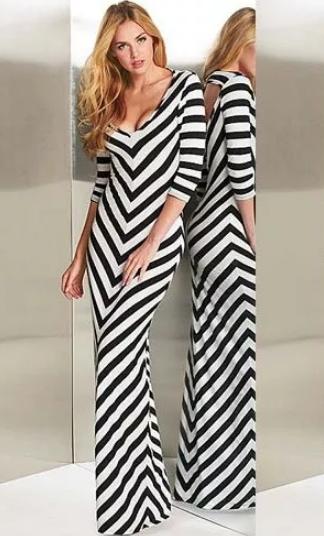 платье с диагональной полосой