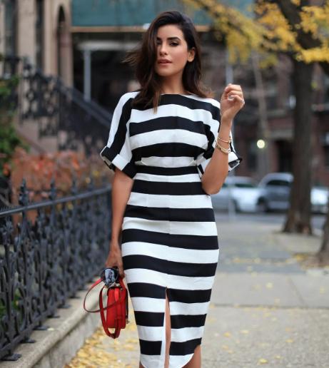 горизонтальная полоса в одежде не всегда полнит фигуру