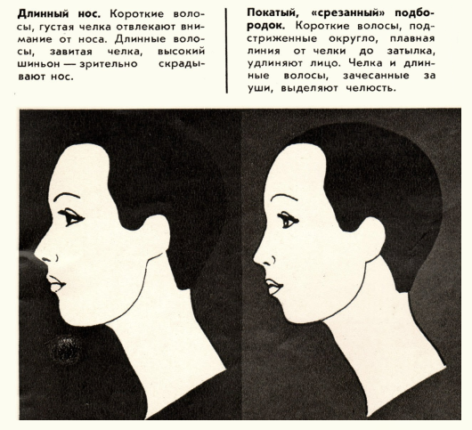 как корректировать прической черты лица