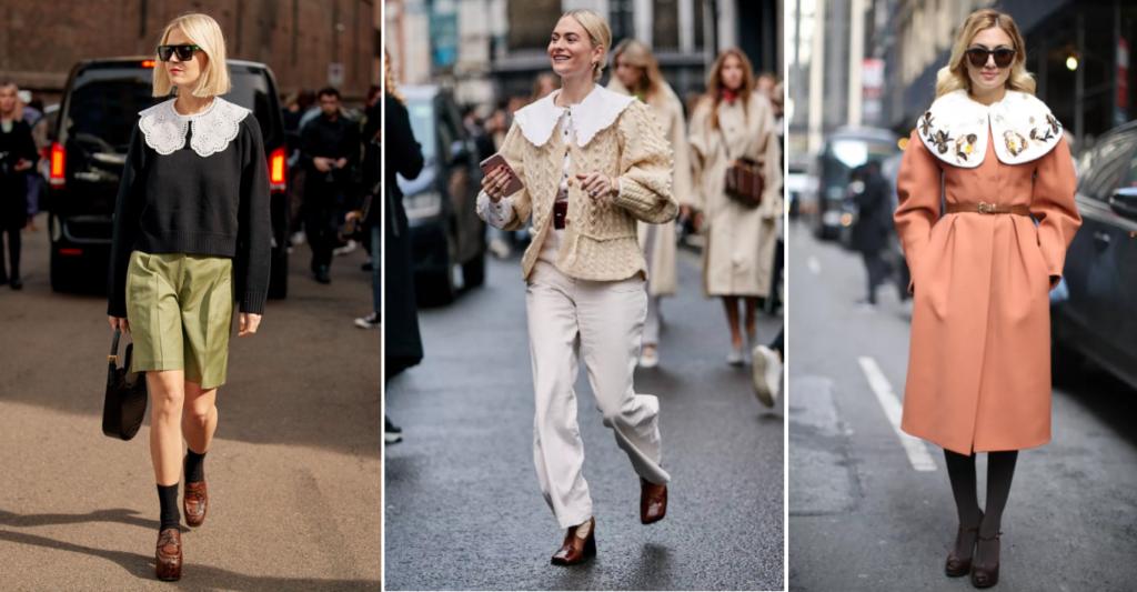 отложной воротник- модная тенденция 2021 года