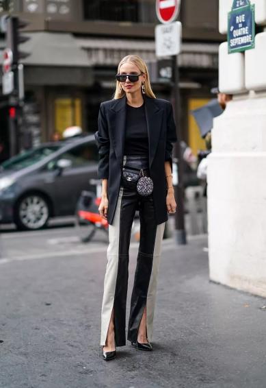 брюки с разерзами - мода 2021