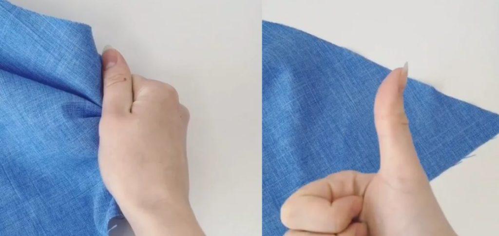 проверка ткани на сминаемость