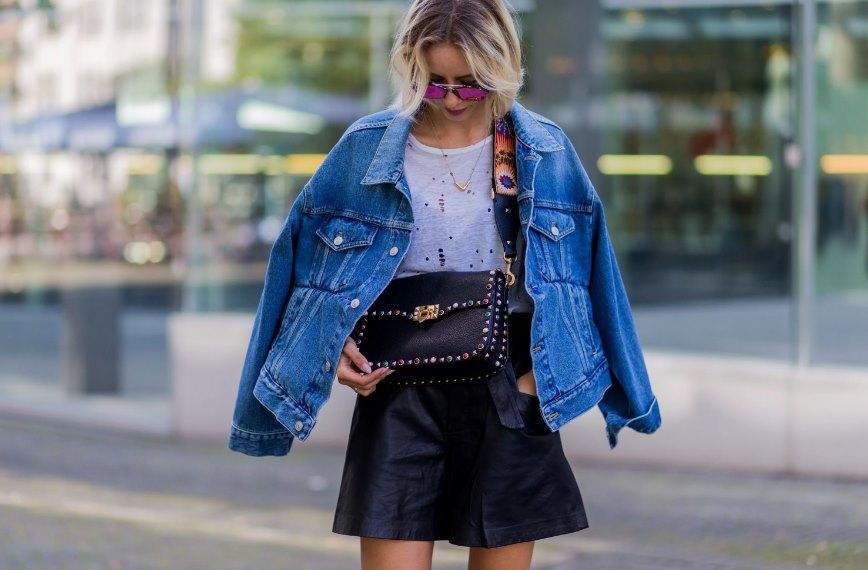 мужская джинсовка на девушке