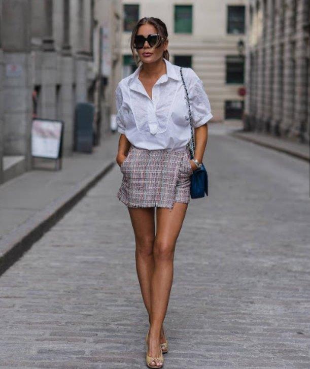 мини-юбка с рубашкой