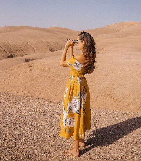 платье в желтых тонах