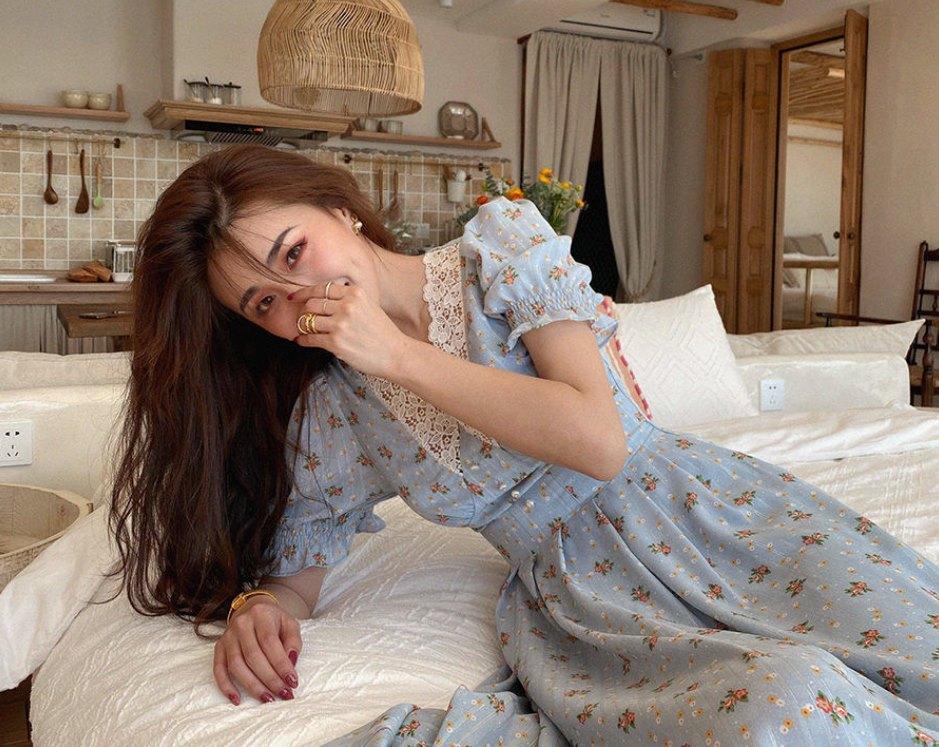 модное чайное платье
