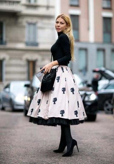 винтажная юбка в современной моде