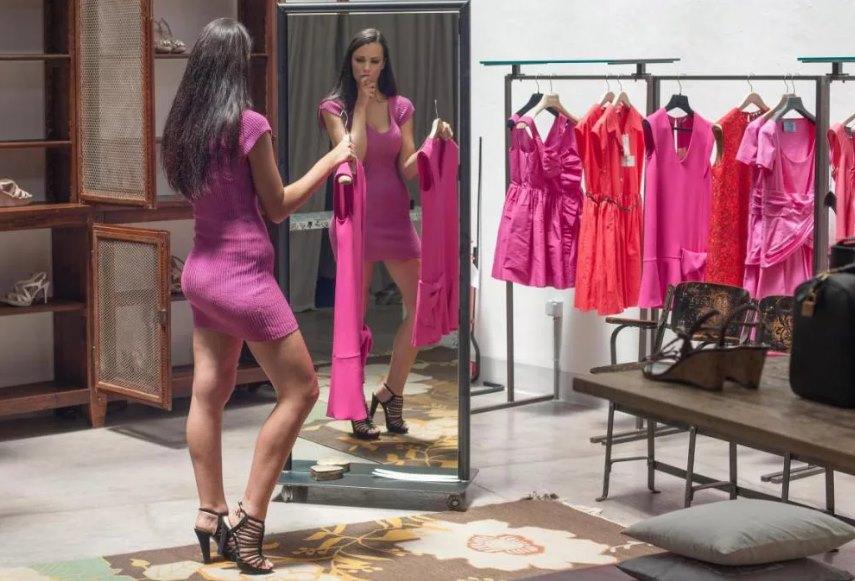 замер длины платья
