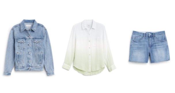 двойной деним: куртка с шортами