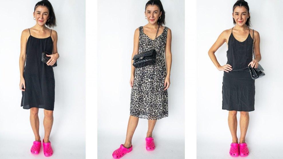 значение длины платья в сочетании с модными кроксами