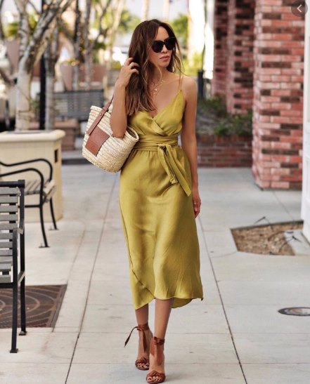 винтажное платье с запахом