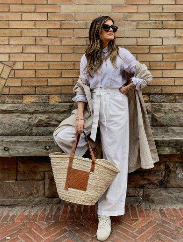 модная сумка-корзина