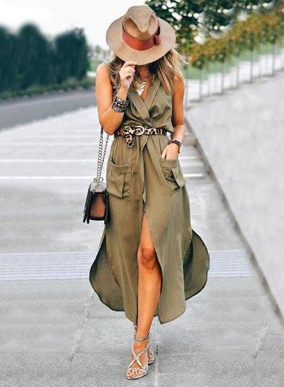 мода 70-х и платье сафари