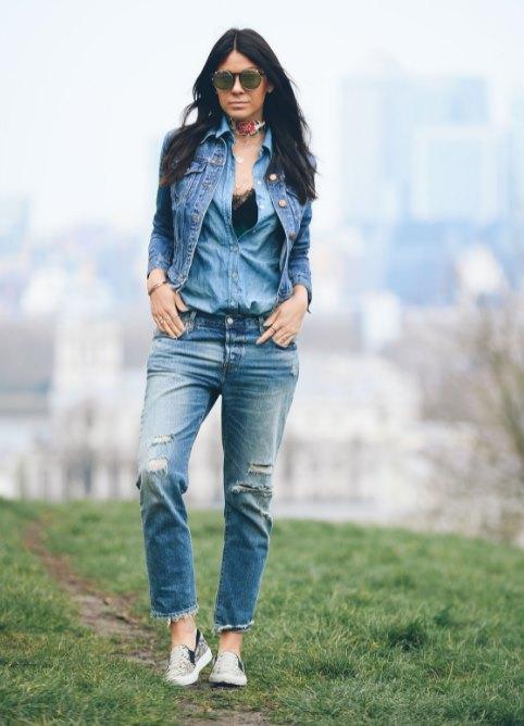 джинсовая тройка