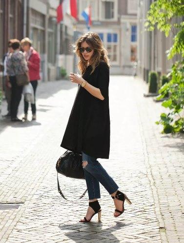 маленькое черное платье с брюками