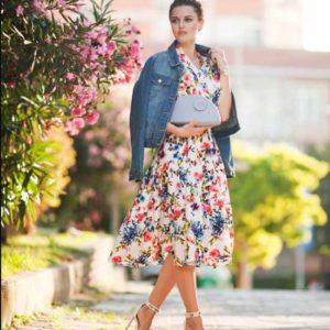 платье с джинсовой курткой