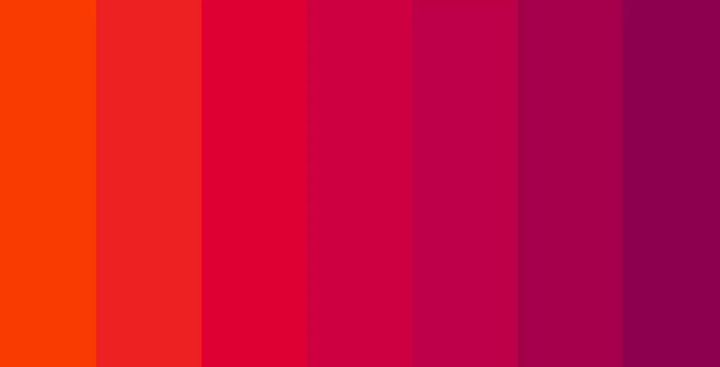 холодные и теплые оттенки красного