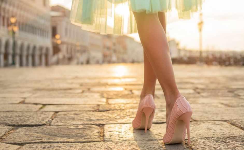 сочетание юбки и обуви