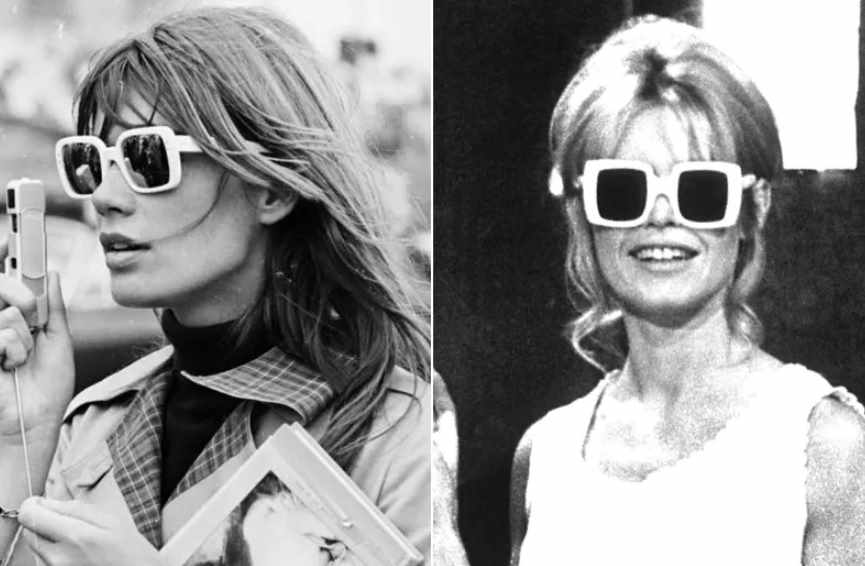 модная оправа очков в 70-е