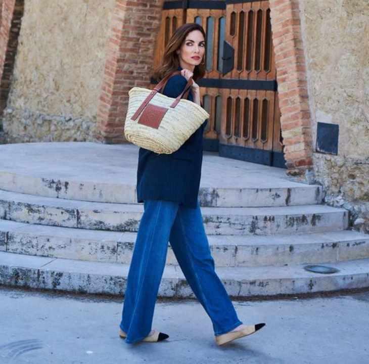 модная сумка из соломки