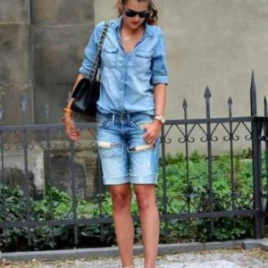 как носить джинсовые шорты