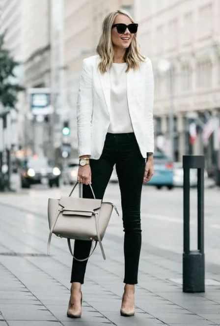 черные джинсы для делового стиля